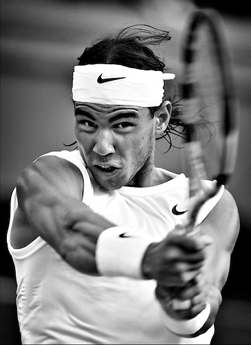 2008, WIMBLEDON TENNIS CHAMPIONSHIPS, RAFA NADAL IN ACTION, ROB CASEY PHOTOGRAPHY.