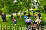 Toastmasters Meeting: Members of the Listowel branch of Toastmasters having an outdoor meeting on the banks of the River Feale on Thursday afternoon last.