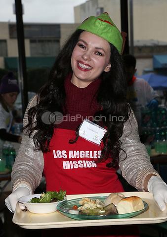 Los Angeles, CA - DECEMBER 23: Natasha Blasick, At Los Angeles Mission Christmas Celebration, At The Los Angeles Mission In California on December 23, 2016. Credit: Faye Sadou/MediaPunch