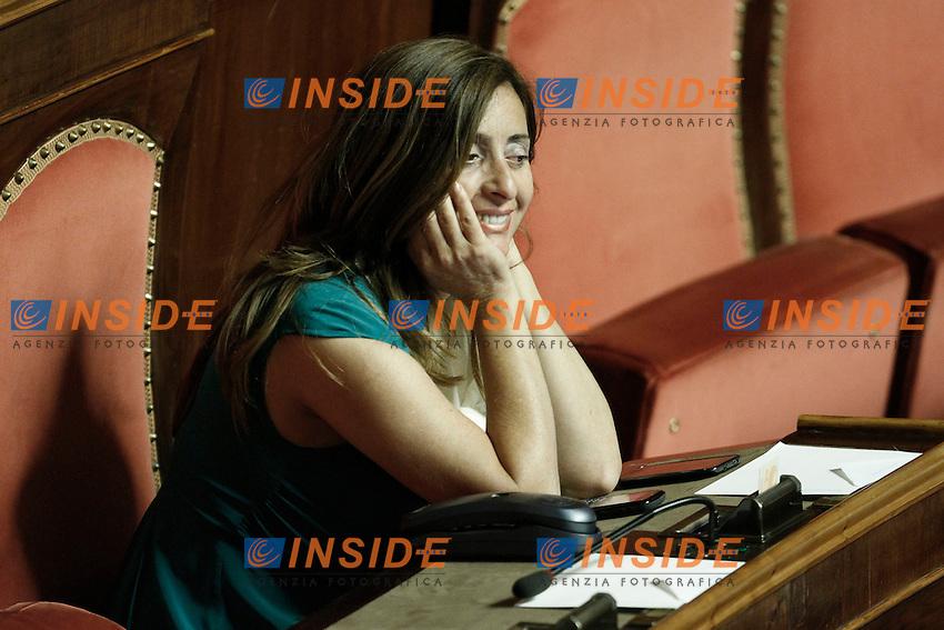 Angela Maraventano Lega Nord.Roma 19/06/2012  Senato - Informativa del Ministro del Lavoro e Politiche Sociali sulla questione riguardante i lavoratori esodati..Foto Serena Cremaschi Insidefoto