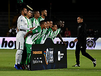 BOGOTÁ - COLOMBIA, 17-01-2019: Los jugadores de Atlético Nacional posan para una foto, antes de partido entre Independiente Santa Fe y Atlético Nacional, por el Torneo Fox Sports 2019, jugado en el estadio Nemesio Camacho El Campin de la ciudad de Bogotá. / The players of Atletico Nacional, pose for a photo prior a match between Independiente Santa Fe and Atletico Nacional, for the Fox Sports Tournament 2019, played at the Nemesio Camacho El Campin stadium in the city of Bogota. Photo: VizzorImage / Luis Ramírez / Staff.