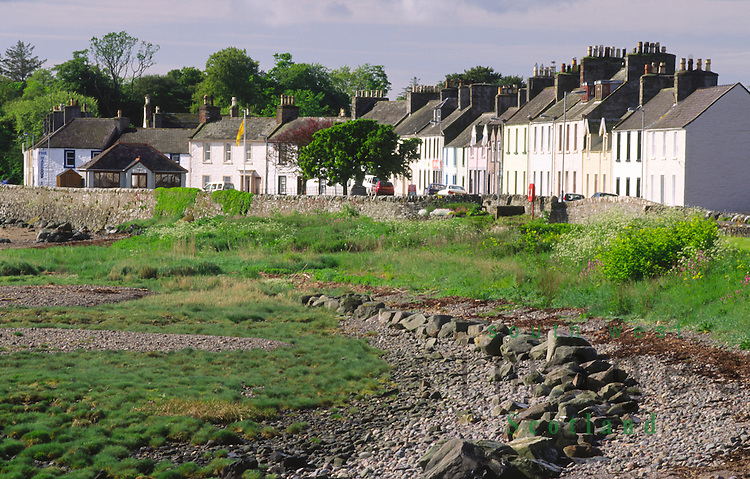 The small village of Garlieston on the edge of Wigtown Bay in the Machars of Galloway Scotland UK