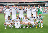 LA Galaxy  team photo. LA Galaxy defeated DC United 2-1 at RFK Stadium, Saturday July 18, 2010.