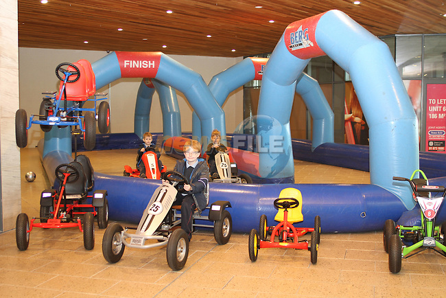 Paul Berrill's Inflatable Karting in SouthGate Shopping Centre...(Photo credit should read Jenny Matthews www.newsfile.ie)....This Picture has been sent you under the conditions enclosed by:.Newsfile Ltd..The Studio,.Millmount Abbey,.Drogheda,.Co Meath..Ireland..Tel: +353(0)41-9871240.Fax: +353(0)41-9871260.GSM: +353(0)86-2500958.email: pictures@newsfile.ie.www.newsfile.ie.