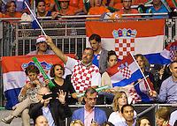 September 12, 2014, Netherlands, Amsterdam, Ziggo Dome, Davis Cup Netherlands-Croatia, Croatian fans<br /> Photo: Tennisimages/Henk Koster