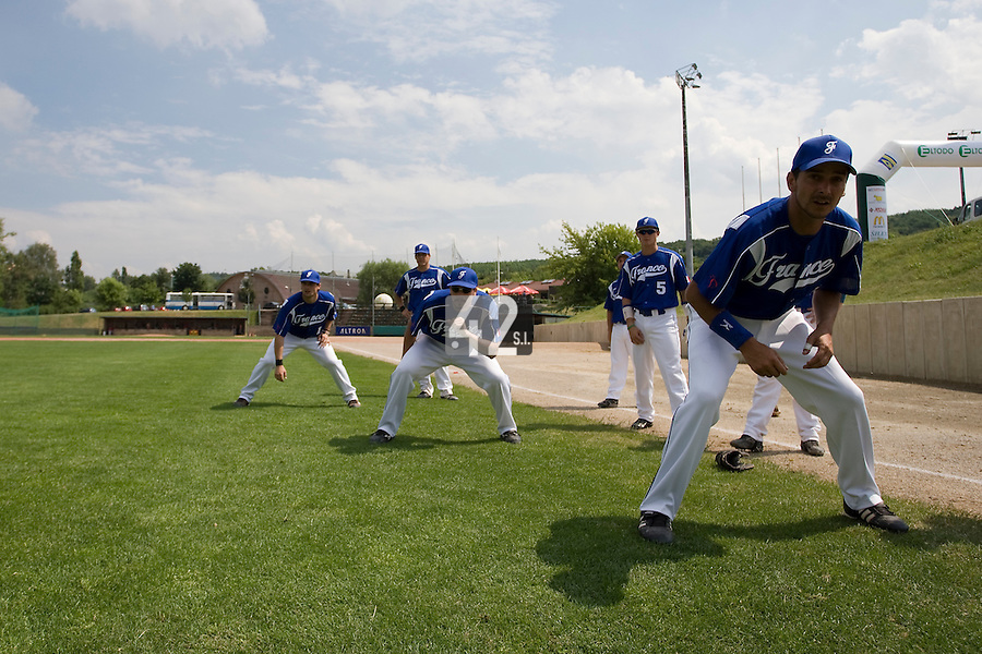 BASEBALL - GREEN ROLLER PARK - PRAGUE (CZECH REPUBLIC) - 24/06/2008 - PHOTO: CHRISTOPHE ELISE.ANTHONY MEURANT (TEAM FRANCE)