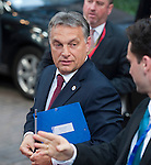 Brussels-Belgium - May 27, 2014 -- European Council, EU-summit, meeting of Heads of State / Government for an informal dinner to evaluate and to conclude the results of the European elections; here, arrival of Viktor ORBAN (Orbán), Prime Minister of Hungary -- Photo: © HorstWagner.eu