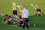 MADRID (24/05/09).- The Spanish Soccer national team has officially begun their hunt for the championship, arriving in the Madrid municipality of Las Rozas to begin preparing for South Africa World Cup.  Vicente del Bosque...PHOTO: Cesar Cebolla / ALFAQUI