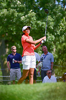 Aditi Ashok (IND) watches her tee shot on 16 during Saturday's round 3 of the 2017 KPMG Women's PGA Championship, at Olympia Fields Country Club, Olympia Fields, Illinois. 7/1/2017.<br /> Picture: Golffile | Ken Murray<br /> <br /> <br /> All photo usage must carry mandatory copyright credit (&copy; Golffile | Ken Murray)