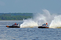 "J-1 ""Bluewater Special"" (1978 Staudacher 7 Litre Div II hydroplane) and H-202 ""Heavy Duty"" (1964 Lauterbach 7 Litre/Grand Prix hydroplane)"
