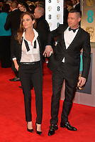LONDON, ENGLAND - FEBRUARY 16: Angelina Jolie &amp; Brad Pitt attends the EE British Academy Film Awards 2014 at The Royal Opera House on February 16, 2014 in London, England. <br /> CAP/PL<br /> &copy;Phil Loftus/Capital Pictures /MediaPunch ***NORTH AND SOUTH AMERICAS ONLY***