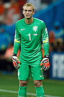 Goalkeeper Jasper Cillessen of the Netherlands looks dejected