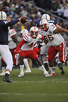 23 November 2013:  Nebraska DE Randy Gregory (44)  and Nebraska DT Aaron Curry (96). The Nebraska Cornhuskers defeated the Penn State Nittany Lions 23-20 in overtime at Beaver Stadium in State College, PA.