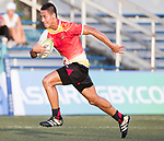 Jinchao Shi of China runs in a try during the Asia Rugby U20 Sevens 2017 at King's Park Sports Ground on August 4, 2017 in Hong Kong, China. Photo by Yu Chun Christopher Wong / Power Sport Images