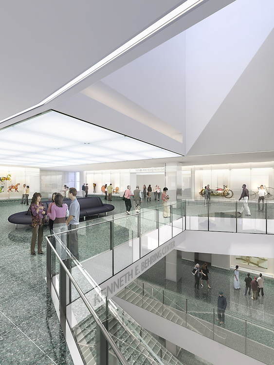 Artist rendering of the renovated Smithsonian Institution National Museum of American History. Inside view.