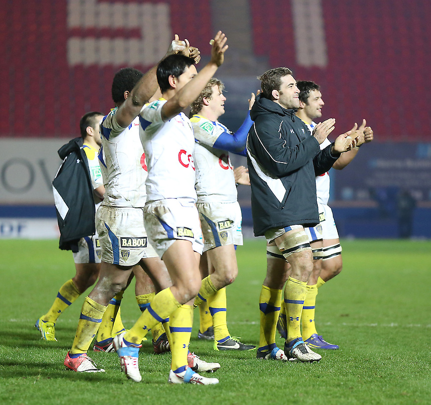 Clermont Auvergne applaud their fans..Rugby Union - Heineken Cup Pool 5 - Scarlets v Clermont Auvergne - Saturday 19th January 2013 - Parc y Scarlets - Llanelli....