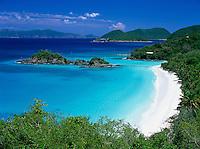 Trunk Bay from the overlook.St John, US Virgin Islands