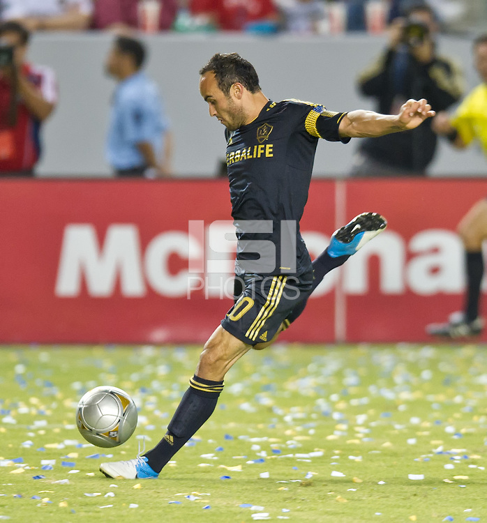 CARSON, CA - July 21, 2012: LA Galaxy forward Landon Donovan (10) during the LA Galaxy vs Chivas USA match at the Home Depot Center in Carson, California. Final score LA Galaxy 3, Chivas USA 1.