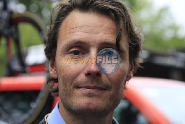 Former pro rider Johan Van Summeren (BEL) before Stage 1, a 14km individual time trial around Dusseldorf, of the 104th edition of the Tour de France 2017, Dusseldorf, Germany. 1st July 2017.<br /> Picture: Eoin Clarke | Cyclefile<br /> <br /> <br /> All photos usage must carry mandatory copyright credit (&copy; Cyclefile | Eoin Clarke)