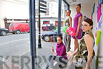 LIVE-STYLE: Models from the Norma O'Donoghue Modeling Agency showed off the latest style trends from Bennetton with a live window display in Shaw's on Saturday. PIctured were: Jennifer Lenihan, Kathryn Scroope, Rachel O'Connor and Mag's Kelleher..