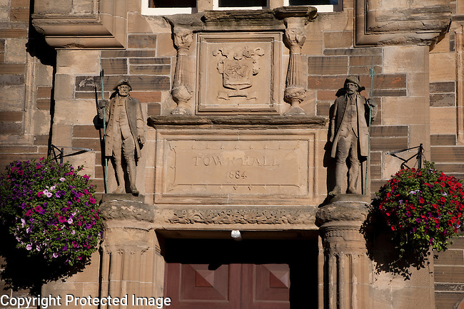 Detail on Town Hall, Kirkwall, Orkney Islands, Scotland
