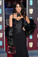 Jackie St Claire arriving for the BAFTA Film Awards 2018 at the Royal Albert Hall, London, UK. <br /> 18 February  2018<br /> Picture: Steve Vas/Featureflash/SilverHub 0208 004 5359 sales@silverhubmedia.com
