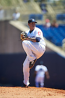 Lake County Captains relief pitcher Cortland Cox (26) during a game against the South Bend Cubs on July 27, 2016 at Classic Park in Eastlake, Ohio.  Lake County defeated South Bend 5-4.  (Mike Janes/Four Seam Images)