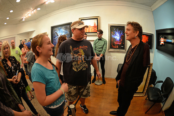 FORT LAUDERDALE FL - JANUARY 16 : Rick Allen of Def Leppard showcases his artwork at Wentworth Gallery on January 16, 2016 in Fort Lauderdale, Florida. Credit: mpi04/MediaPunch