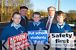 SAFETY FIRST: Principal John Mulvihill of St Michael College, Listowel call for a pedestrian crossing outside the school on Tuesday l-r: Christy Breen, Cllr. Denis Stack (board of management), Colin Stack, John Mulvihill and Jack Wall..