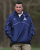 Tom Rooney, St. Dominic varsity boys lacrosse head coach, surveys the field during a game against Long Island Lutheran at Charles Wang Athletic Complex in East Norwich on Monday, April 30, 2018.