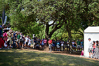 Jon Rahm (ESP) hits after his drop on 6 during round 7 of the World Golf Championships, Dell Technologies Match Play, Austin Country Club, Austin, Texas, USA. 3/26/2017.<br /> Picture: Golffile | Ken Murray<br /> <br /> <br /> All photo usage must carry mandatory copyright credit (&copy; Golffile | Ken Murray)