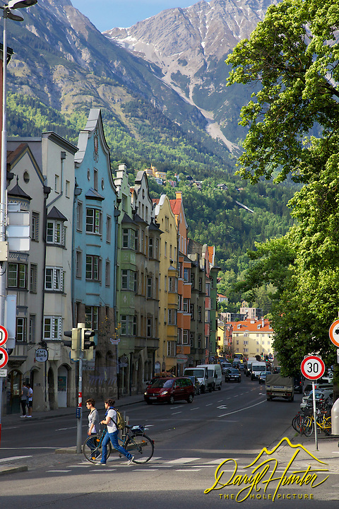 Old buildings, Nordkette Mountain, Innsbruck Austria