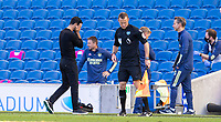 20th June 2020, American Express Stadium, Brighton, Sussex, England; Premier League football, Brighton versus Arsenal ;  Arsenals manager Mikel Arteta reacts to Maupoays late goal and the loss