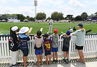 30th November 2019, Hamilton, New Zealand;  Young fans wait for autographs on the boundary during play on day 2 of 2nd test match between New Zealand and England,  International Cricket at Seddon Park, Hamilton, New Zealand.  - Editorial Use