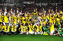 Kashiwa Reysol team group, DECEMBER 3, 2011 - Football / Soccer : Kashiwa Reysol players celebrate their J1 title with the championship trophy after winning the 2011 J.League Division 1 match between Urawa Red Diamonds 1-3 Kashiwa Reysol at Saitama Stadium 2002 in Saitama, Japan. (Photo by Hitoshi Mochizuki/AFLO)