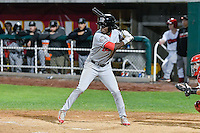 Michael Beltre (36) of the Billings Mustangs at bat against the Orem Owlz in Game 2 of the Pioneer League Championship at Home of the Owlz on September 16, 2016 in Orem, Utah. Orem defeated Billings 3-2 and are the 2016 Pioneer League Champions. (Stephen Smith/Four Seam Images)