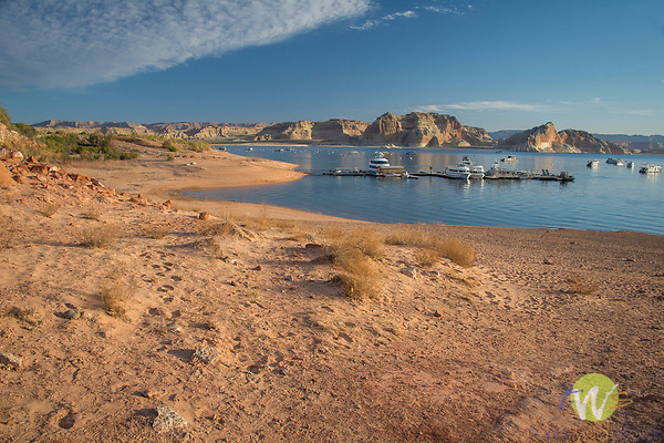 Lake Powell reservoir and resort. Colorado River, Arizona