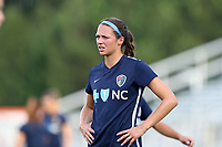 Cary, North Carolina  - Saturday June 17, 2017: Ashley Hatch prior to a regular season National Women's Soccer League (NWSL) match between the North Carolina Courage and the Boston Breakers at Sahlen's Stadium at WakeMed Soccer Park. The Courage won the game 3-1.