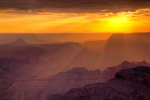 Sunset at Point Sublime at the North Rim of Grand Canyon National Park, Arizona
