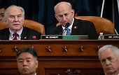 United States Representative Louie Gohmert (Representative of Texas), right, and United States Representative Steve Chabot (Republican of Ohio), left, attend a House Judiciary Committee hearing on the impeachment of US President Donald Trump on Capitol Hill in Washington, DC, December 4, 2019.<br /> Credit: Saul Loeb / Pool via CNP