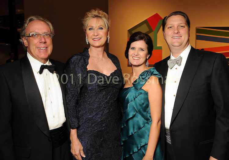 From left: Mike and Carol Linn with Heather and Chris Enright at the Museum of Fine Arts Houston 's 2010 Grand Gala Ball  Friday Oct. 01, 2010. (Dave Rossman/For the Chronicle)