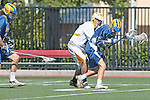 Orange, CA 05/01/10 - Kevin Bowles (UCSB # 16) and Bryan Siegel (ASU # 8) in action during the UC Santa Barbara-Arizona State MCLA SLC semi-final game in Wilson Field at Chapman University.  Arizona State advanced to the final by defeating UC Santa Barbara 13-9.