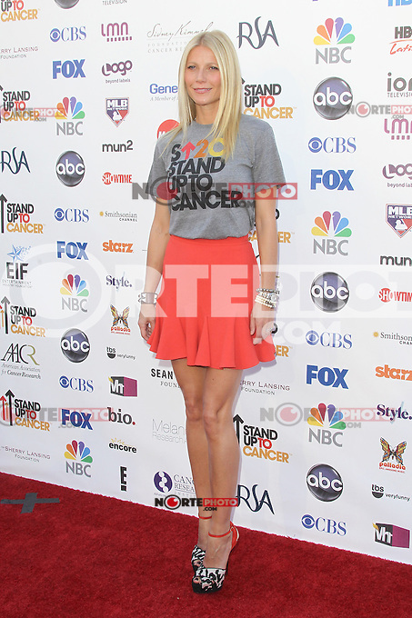 LOS ANGELES, CA - SEPTEMBER 07: Gwyneth Paltrow at the Stand Up To Cancer benefit at The Shrine Auditorium on September 7, 2012 in Los Angeles, California. Credit: mpi27/MediaPunch Inc. /NortePhoto.com<br />