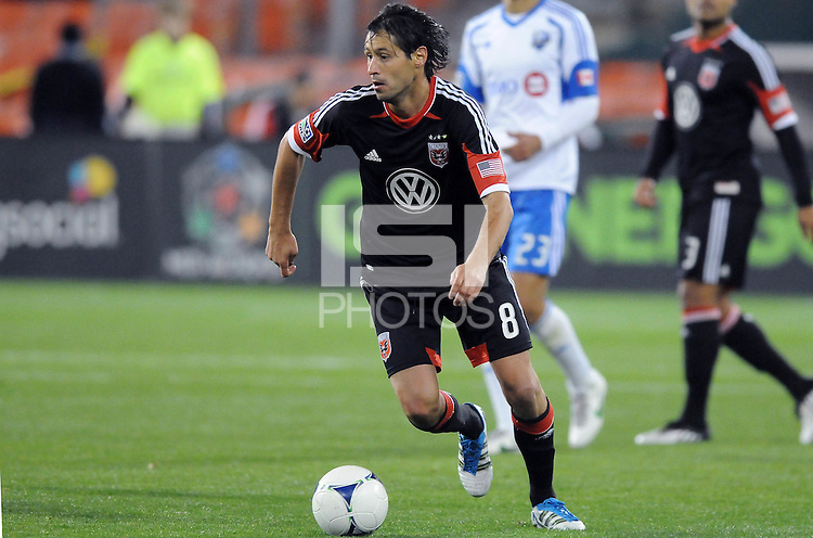 D.C. United midfielder Branko Boskovic (8)  D.C. United tied The Montreal Impact 1-1, at RFK Stadium, Wednesday April 18 , 2012.