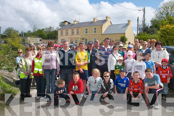 0586-0591.READY: The walkers line up at the start of the annual Sheila Moynihan Memorial Walk in aid of Kerry Hospice, in Rathmore last Sunday.