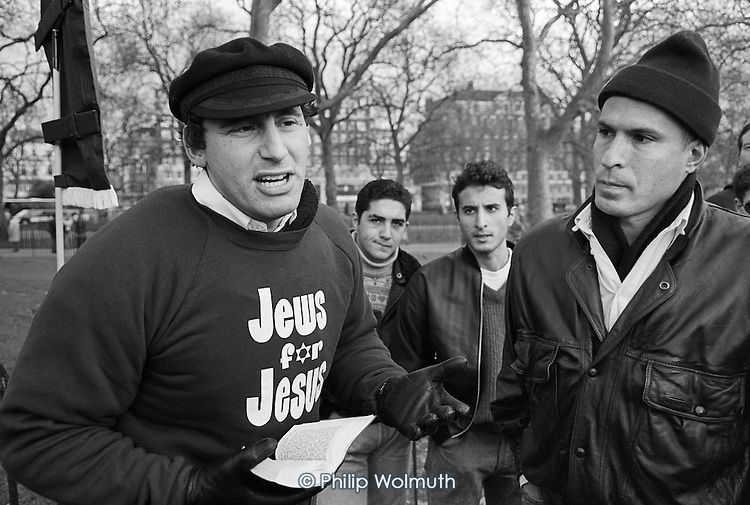 Jews for Jesus.  Speakers' Corner, Hyde Park, London.
