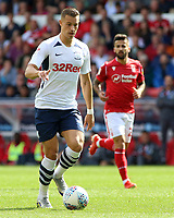 Preston North End's Billy Bodin pushes forward<br /> <br /> Photographer David Shipman/CameraSport<br /> <br /> The EFL Sky Bet Championship - Nottingham Forest v Preston North End - Saturday 31st August 2019 - The City Ground - Nottingham<br /> <br /> World Copyright © 2019 CameraSport. All rights reserved. 43 Linden Ave. Countesthorpe. Leicester. England. LE8 5PG - Tel: +44 (0) 116 277 4147 - admin@camerasport.com - www.camerasport.com