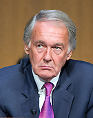 """United States Senator Edward J. Markey (Democrat of Massachusetts) a member of the U.S. Senate Foreign Relations Committee, listens to testimony during the hearing on """"Authorization of Use of Force in Syria"""" on Capitol Hill in Washington, D.C. on Tuesday, September 3, 2013.<br /> Credit: Ron Sachs / CNP"""