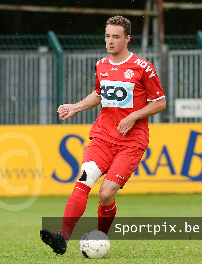 20140627 - HARELBEKE , BELGIUM:  Kortrijk's Arno Claeys pictured during a friendly match between SW Harelbeke and Belgian first division soccer team KV Kortrijk, the third match for Kortrijk of the preparations for the 2014-2015 season, Friday 27 June 2014 in Bissegem. PHOTO DAVID CATRY