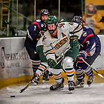 9 February 2018: University of Vermont Catamount Defender Sammy Kolowrat, a Junior from Prague, the Czech Republic, in first period action against the University of Connecticut Huskies at Gutterson Fieldhouse in Burlington, Vermont. The Lady Cats defeated the Huskies 1-0 the first game of their weekend Hockey East series. Mandatory Credit: Ed Wolfstein Photo *** RAW (NEF) Image File Available ***